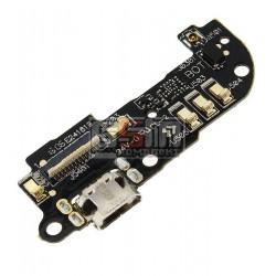 Шлейф для Asus ZenFone 2 (ZE500CL), коннектора зарядки, микрофона, с компонентами