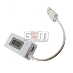 USB Тестер DC: 3V-7V I: 50mA-3500mA LCD дисплей, з вимірюванням ємності батареї 0-19999mAh