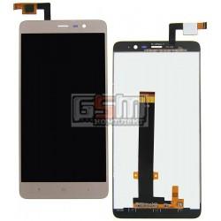 Дисплей для Xiaomi Redmi Note 3, золотистый, original (PRC), с сенсорным экраном (дисплейный модуль)