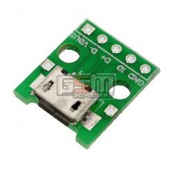 Коннектор micro usb на плате