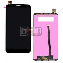 Дисплей для Alcatel One Touch 8020 Hero Bluish, черный, с сенсорным экраном (дисплейный модуль)