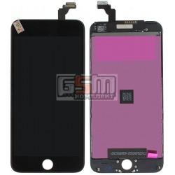 Дисплей для iPhone 6 Plus, черный, copy, с сенсорным экраном (дисплейный модуль), с рамкой