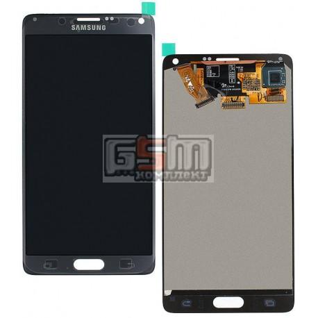 Дисплей для Samsung N910HGalaxy Note 4, серый, с сенсорным экраном (дисплейный модуль)
