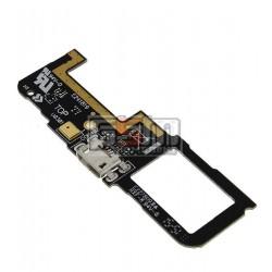 Шлейф для Asus ZenFone C (ZC451CG), коннектора зарядки, микрофона, с компонентами