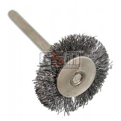 Щетка для гравера хвостовик 3.2мм (диск) стальная