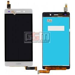 Дисплей для Huawei P8 Lite (ALE L21), белый, с сенсорным экраном (дисплейный модуль)