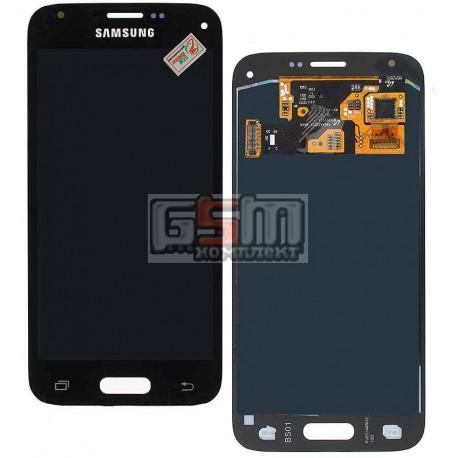 Дисплей для Samsung G800H Galaxy S5 mini, синий, с сенсорным экраном (дисплейный модуль)