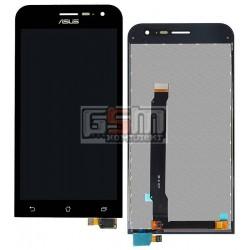 Дисплей для Asus ZenFone 2 (ZE500CL), черный, с сенсорным экраном (дисплейный модуль)
