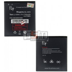 Аккумулятор BL3805 для Fly IQ4404, original, (Li-ion 3.7V 1750mAh), #5834003382