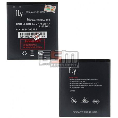 Аккумулятор BL3805 для Fly IQ4404, original, (Li-ion 3.7V 1750mAh), #5834003382