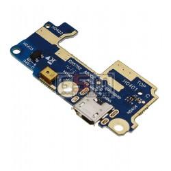 Шлейф для Asus ZenFone 5 (A500CG), коннектора зарядки, микрофона, с компонентами