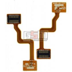 Шлейф для Samsung E1190, E1195, копия, межплатный, с компонентами
