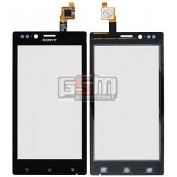 Тачскрин для Sony ST26i Xperia J, черный