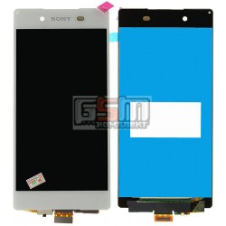 Дисплей для Sony E6533 Xperia Z3+ DS, E6553 Xperia Z3+, Xperia Z4, белый, с сенсорным экраном (дисплейный модуль)