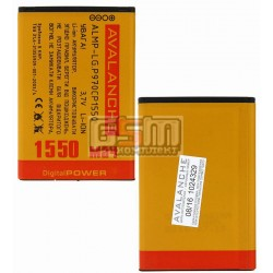 Аккумулятор Avalanche BL-44JN для LG A290, C660, E405 Optimus L3, E510 Optimus Hub, E610 Optimus L5, E612 Optimus L5, E730 Optimus Sol, E739, P690, P698, P970 Optimus Black, (Li-ion 3.7V 1550mAh), #ALMP-P-LG.P970CP