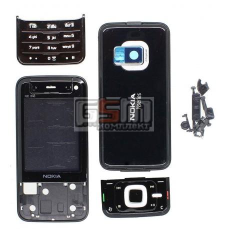 Корпус для Nokia N81 8Gb, черный, high-copy