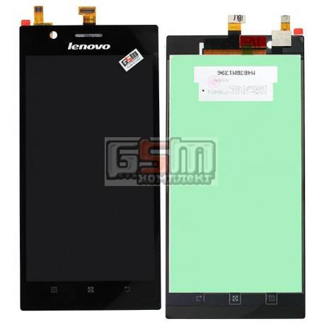 Дисплей для Lenovo K900, чорний, з сенсорним екраном (дисплейний модуль), LH550WF2-SD01
