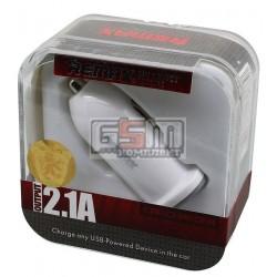Автомобильное зарядное устройство REMAX, (USB выход 5V 2.1A), 12 В, универсальное пластиковая коробка