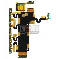 Шлейф для Sony C6902 L39h Xperia Z1, C6903 Xperia Z1, C6906 Xperia Z1, C6943 Xperia Z1, межплатный, кнопки включения, боковых кл