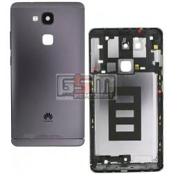 Задняя панель корпуса для Huawei Ascend Mate 7, черная, с боковыми кнопками, без лотка SIM-карты