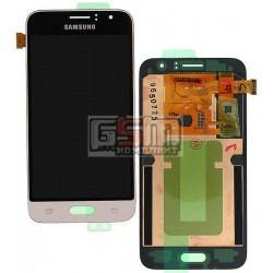 Дисплей для Samsung J120H Galaxy J1 (2016), золотистый, с сенсорным экраном (дисплейный модуль)