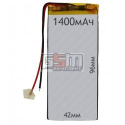 Аккумулятордлякитайского планшета универсальный,(1400mAh),(42*96*3.0мм)