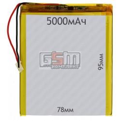 Аккумулятордлякитайского планшета универсальный,(5000mAh),(78*95*4.5мм)