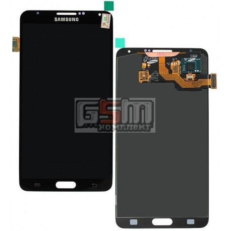 Дисплей для Samsung N900 Note 3, N9000 Note 3, N9005 Note 3, N9006 Note 3, сірий, з тачскріном, оригінал (переклеєне скло)