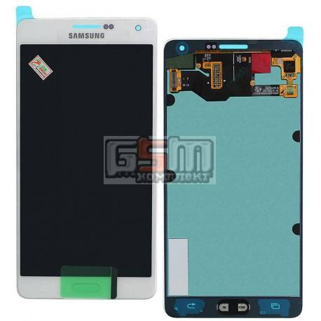 Дисплей для Samsung A700F Galaxy A7, A700H Galaxy A7, белый, с сенсорным экраном (дисплейный модуль)