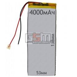 Аккумулятордлякитайского планшета универсальный,(4000mAh),(53*138*3,5мм)