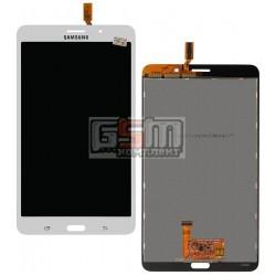 Дисплей для планшету Samsung T230 Galaxy Tab 4 7.0, T231 Galaxy Tab 4 7.0 3G, T235 Galaxy Tab 4 7.0 LTE, (версія 3G), білий, з сенсорним екраном (дисплейний модуль)