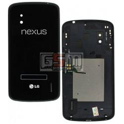 Задняя крышка батареи для LG E960 Nexus 4, черная