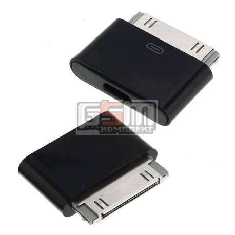 Адаптер micro-USB to 30 pin для Apple iPhone 2G, iPhone 3G, iPhone 3GS, iPhone 4, iPhone 4S; планшетов Apple iPad, iPad 2, iPad