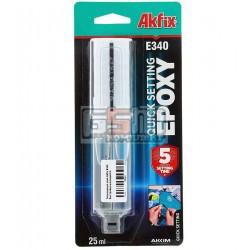 Эпоксидный клей Akfix E340 быстровысыхающий