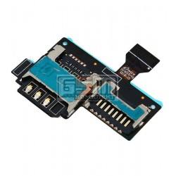 Коннектор SIM-карты для Samsung I9190 Galaxy S4 mini, I9192 Galaxy S4 Mini Duos, I9195 Galaxy S4 mini, коннектор карты памяти, со шлейфом