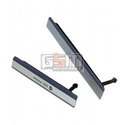 Боковая заглушка для Sony D6502 Xperia Z2, D6503 Xperia Z2, черная, полный комплект