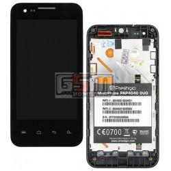 Дисплей для Prestigio MultiPhone 4040 Duo; Explay Advance, черный, с сенсорным экраном (дисплейный модуль), с передней панелью