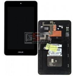 Дисплей для планшета Asus MeMO Pad HD7 ME173X (K00B), черный, с сенсорным экраном (дисплейный модуль), с рамкой