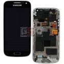 Дисплей для Samsung I9190 Galaxy S4 mini, I9192 Galaxy S4 Mini Duos, I9195 Galaxy S4 mini, синий, с сенсорным экраном (дисплейный модуль), с передней панелью