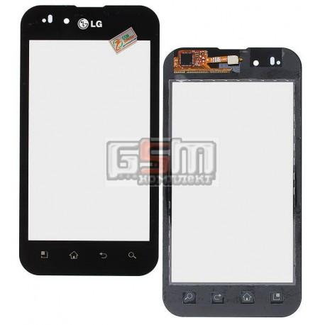 Тачскрин для LG P970 Optimus Black, черный