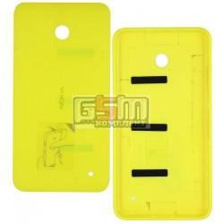 Задняя панель корпуса для Nokia 630 Lumia Dual Sim, желтая, с боковыми кнопками