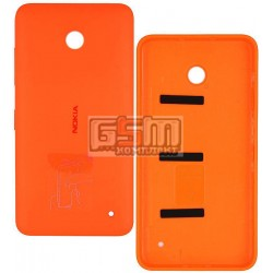 Задняя панель корпуса для Nokia 630 Lumia Dual Sim, оранжевая, с боковыми кнопками