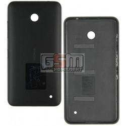 Задняя панель корпуса для Nokia 630 Lumia Dual Sim, черная, с боковыми кнопками
