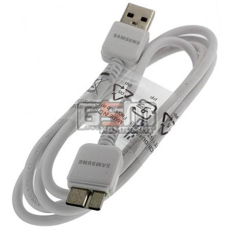 USB дата кабель (micro-USB3.0) для Samsung N900 Note 3, N9000 Note 3, N9005 Note 3, N9006 Note 3, белый