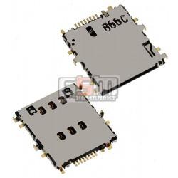 Коннектор SIM-карты для планшета Samsung P3200 Galaxy Tab3, P5200 Galaxy Tab3, P5220 Galaxy Tab3, T111 Galaxy Tab 3 Lite 7.0 3G,