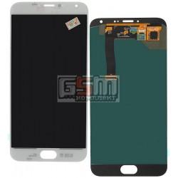 Дисплей для Meizu MX5, белый, с сенсорным экраном (дисплейный модуль)