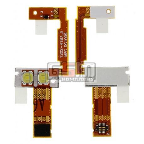 Шлейф для Sony Ericsson C702, вспышки, с компонентами