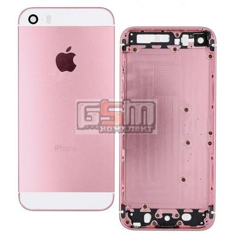 Корпус для Apple iPhone 5S, светло-рожевий