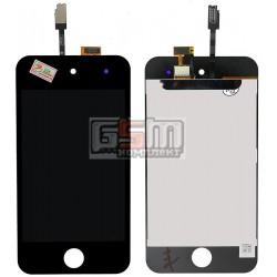 Дисплей для MP3-плеера Apple iPod Touch 4G, черный, с сенсорным экраном (дисплейный модуль)