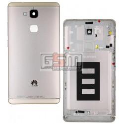 Задняя панель корпуса для Huawei Ascend Mate 7, золотистая, с боковыми кнопками, без лотка SIM-карты